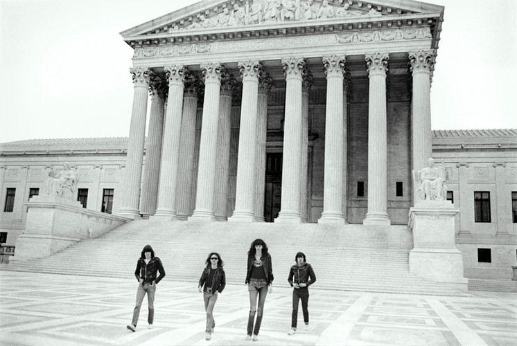 The Ramones in front of the Supreme Court of the United States