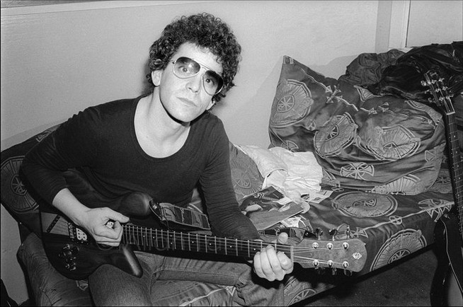 Lou Reed backstage at The Bottom Line