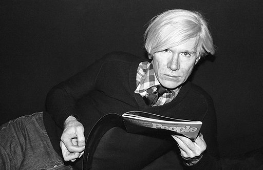 Andy Warhol with People Mag by Marcia Resnick. NYC, 1972