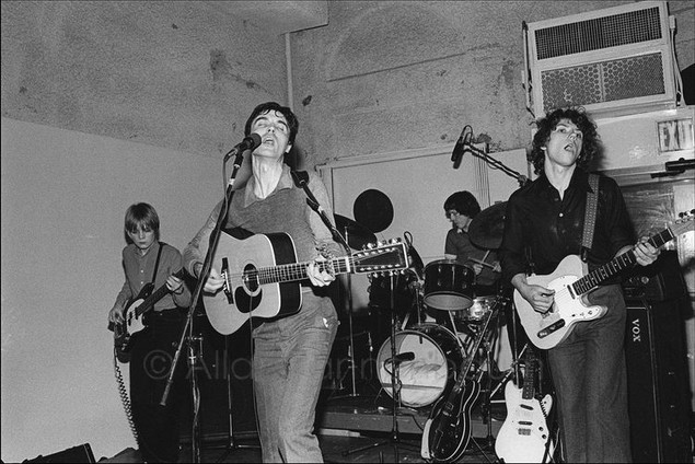 The Talking Heads perform at the Lower Manhattan Ocean Club in Tribeca.