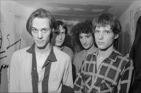 Tom Verlaine and Television backstage at CBGB