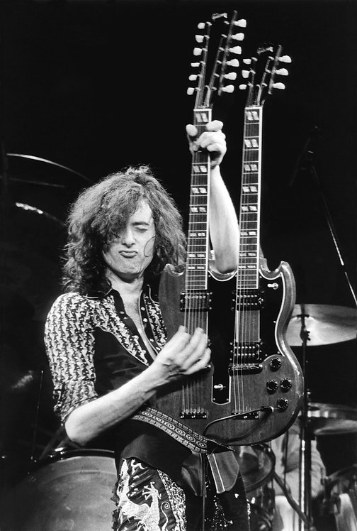 Jimmy Page by Bob Gruen. NYC, 1975