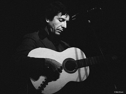 Leonard Cohen by Bob Gruen. NYC, 1974