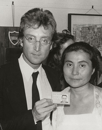 John Lennon & Yoko Ono - Green Card NYC 1976