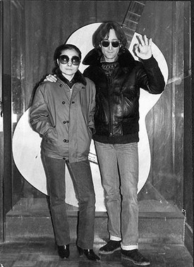 John Lennon & Yoko Ono with Guitar The Record Plant, NYC 1980