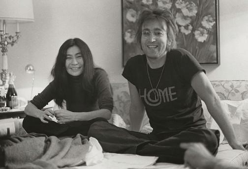 John Lennon & Yoko Ono - Home T-shirt St. Moritz Hotel, NYC 1972
