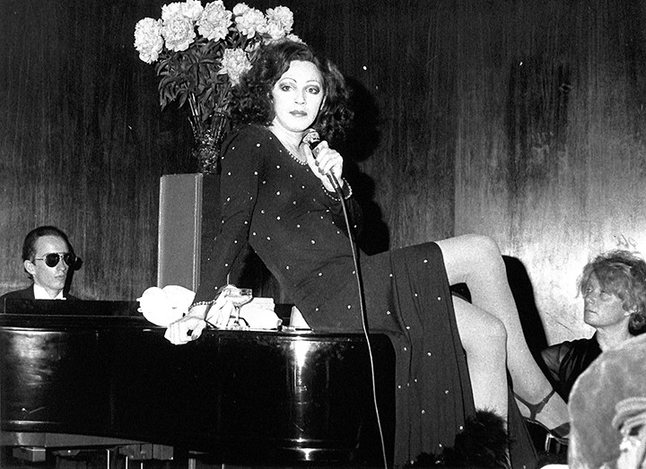 Holly Woodlawn 'Cabaret in the Sky' at C.I.T.Y. - NYC 1972