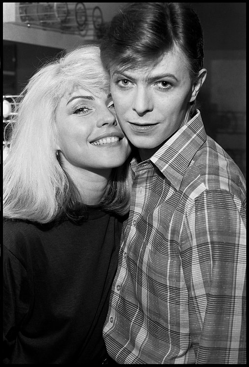 Debbie Harry & David Bowie. NYC, 1977