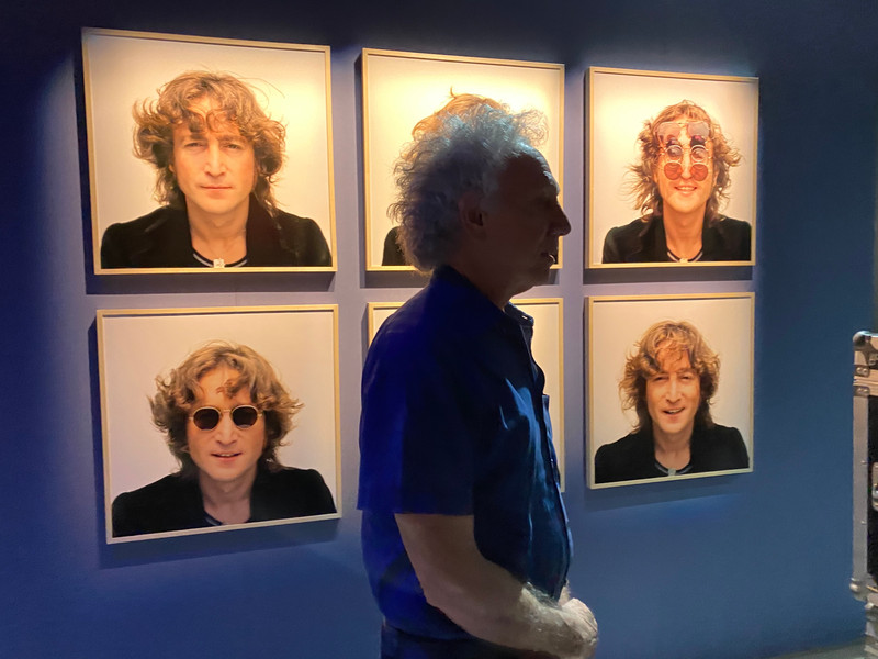 Bob Gruen at the exhibition's opening
