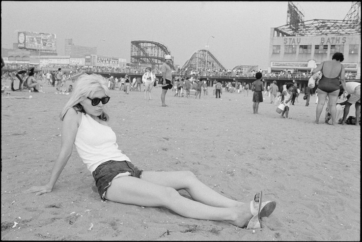 Debbie Harry at the beach