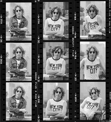John Lennon Proof Sheet, New York City 1974