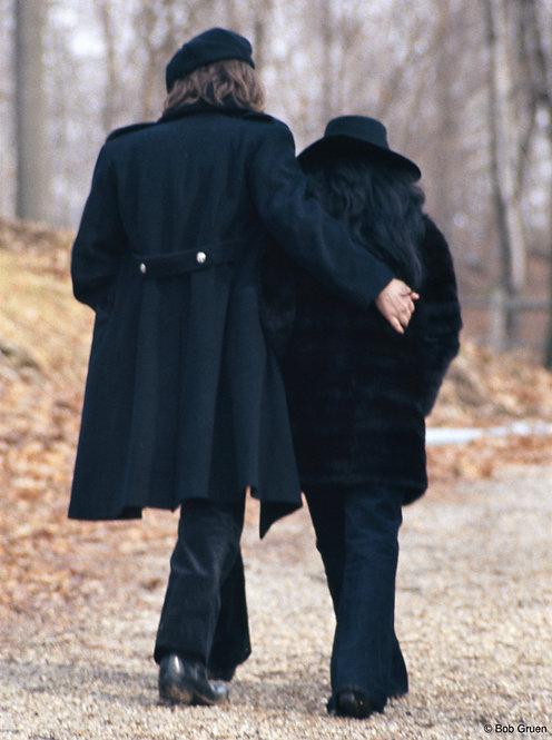 John Lennon & Yoko Ono by Bob Gruen NY, 1973