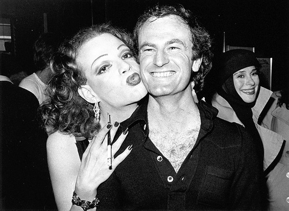 Jackie Curtis & Peter Allen, Joan Hackett (back). Reno Sweeney, NYC 1974