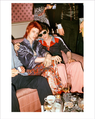 David Bowie and LouReed. Dorchester Hotel. London, UK. 1972