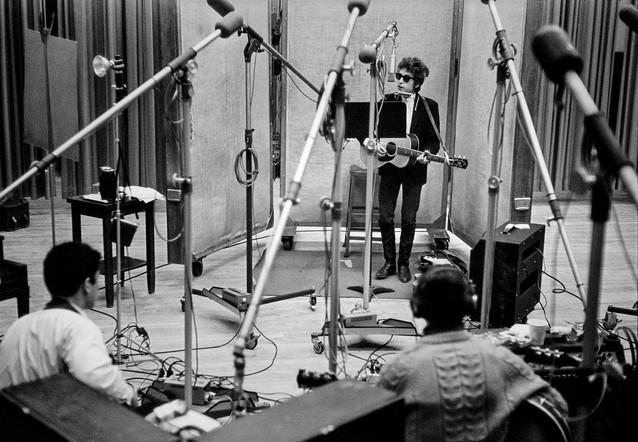 Bob Dylan at the Recording Studio