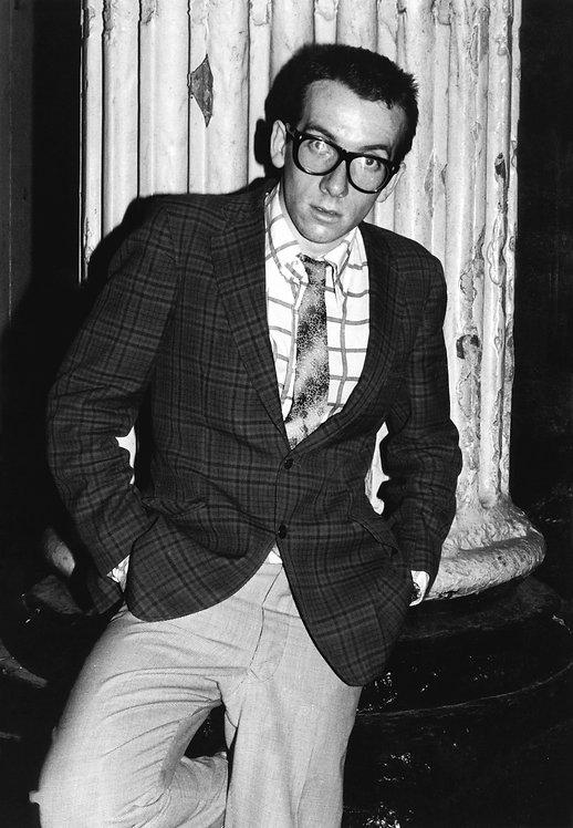 Elvis Costello by Bob Gruen. London, England 1977