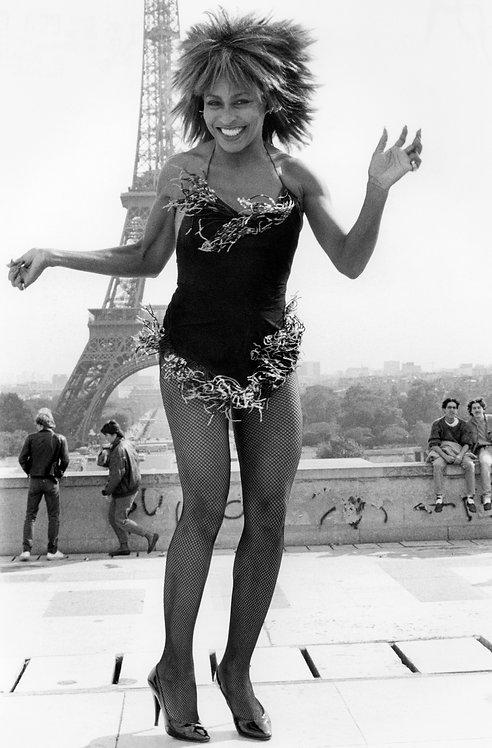 Tina Turner by Bob Gruen. Paris, France, 1984