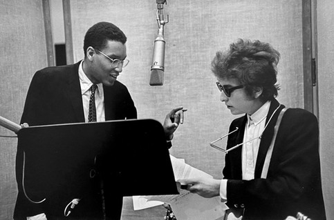 """Bob Dylan With Producer Tom Wilson, """"Bringing it All Back Home"""" Recording Session, New York, 1965"""