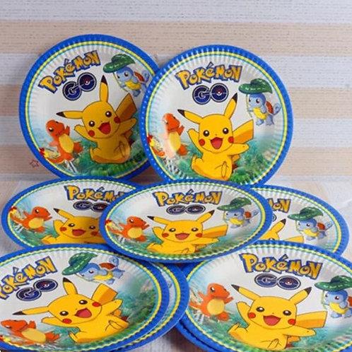 Pokemon paper plates