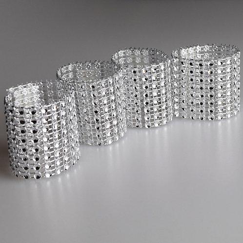 Crystal Silver Tie Back