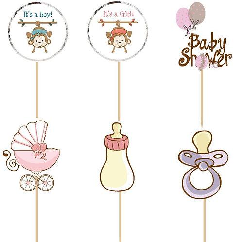 Baby Shower Cupcake Picks