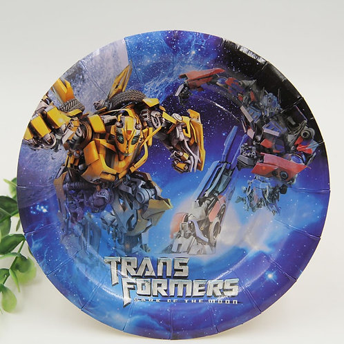 Transformers paper plates