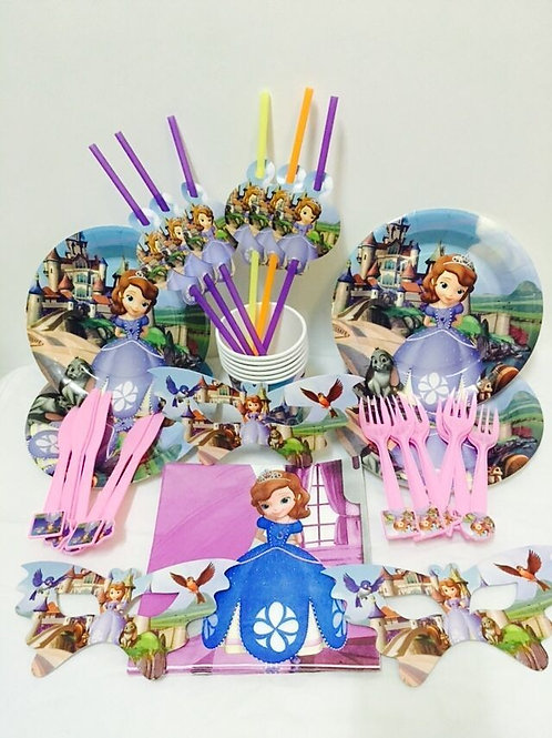 Sofia the First party pack for 6
