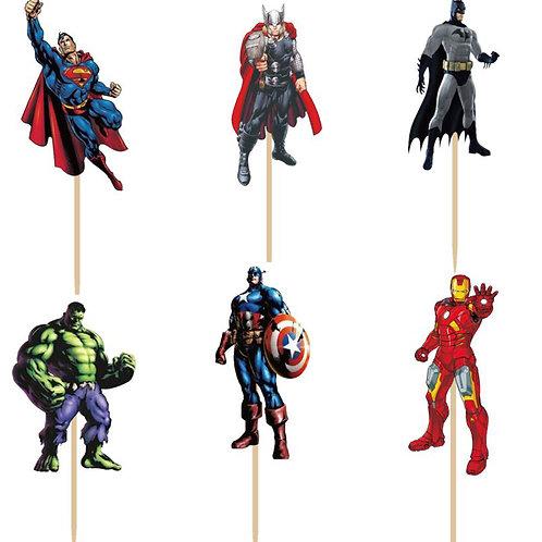 Avengers Cupcake Picks
