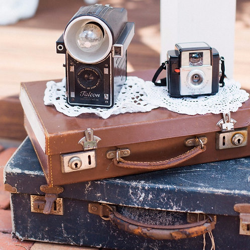 Vintage Shabby Suitcases