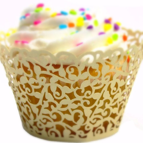 Laser Cut Cupcake Liners -Yellow