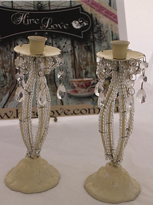 Vintage Bead Candle Holders