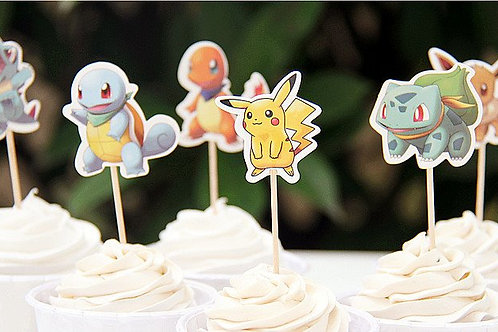 Pokemon Cupcake Picks