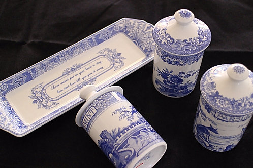 Spode Blue Spice Rack with tray