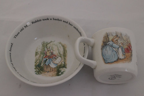 Peter Rabbit Bowl and cup