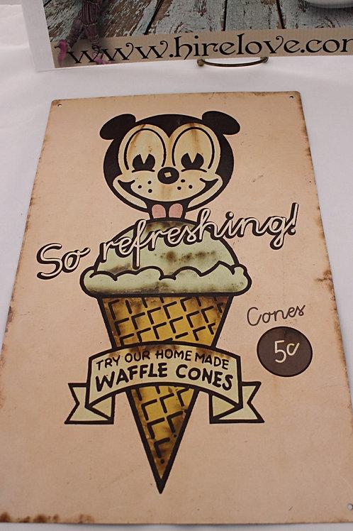Vintage Ice-cream sign