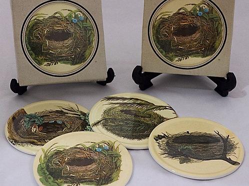 Bird Nest Coasters and Frame