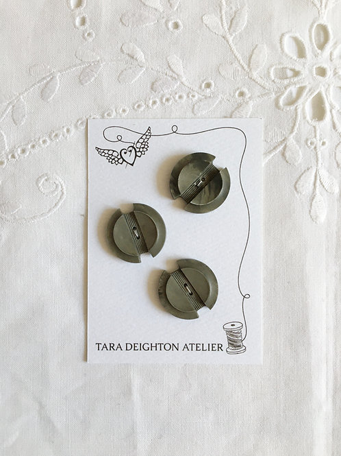 Vintage Slate Grey Deco buttons