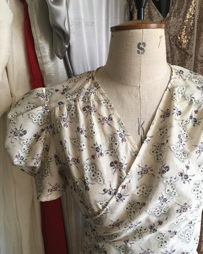 Liberty Print 1930's wrap dress Commissi