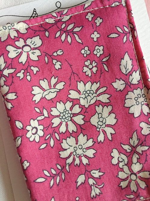 Vintage Liberty Print Needle Case ~ Pink Bracken