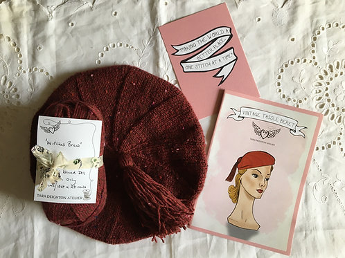 Vintage Tassel Beret KIT ~ Witches Brew