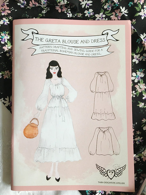 The GRETA Blouse & Dress ~ Pattern Drafting & Sewing Guide