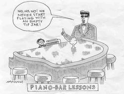 Piano-bar lesson
