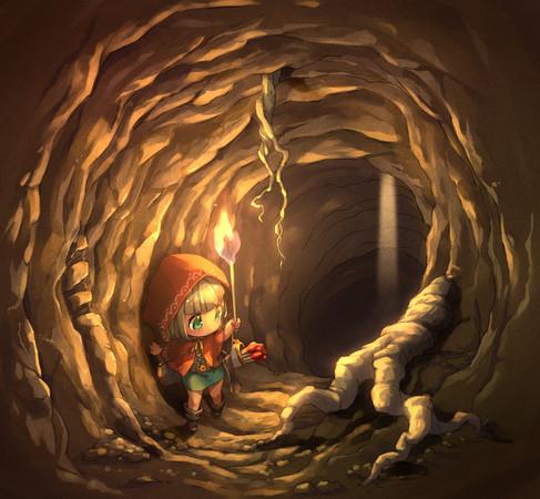 ポンチョ小人とモグラの洞窟