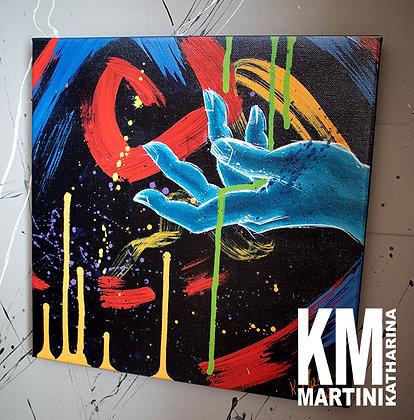 """CANVAS PRINT """"LET GO"""" 40 x 40 cm"""