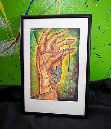 Original - Pastellkreide Hand 2021