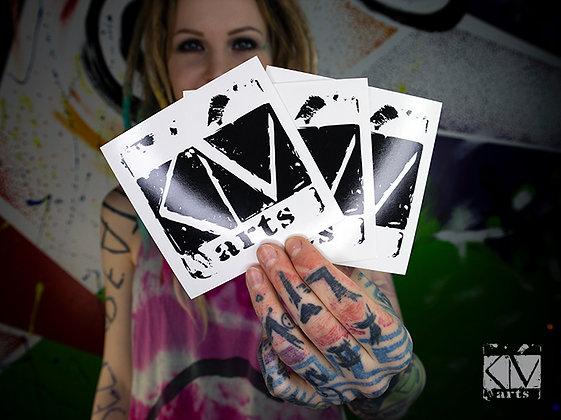 KM ARTS Logo Sticker - 3 Stück