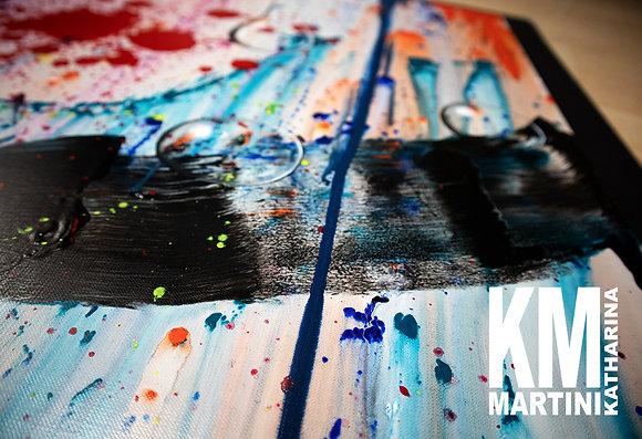 """ORIGINAL Canvas Painting """"Waterdrop"""""""