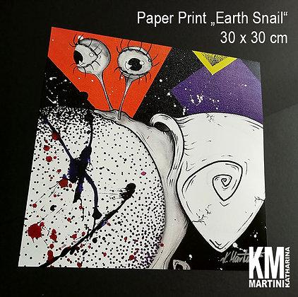 "PRINT ""EARTH SNAIL"" 30 x 30 cm - NUR NOCH ZWEI VERFÜGBAR!"