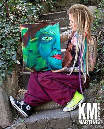 "ORIGINAL Canvas Painting ""Mirror Face"""