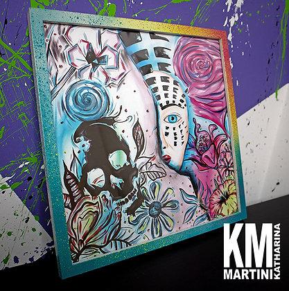 FRAMED ARTPRINT (colourful frame) Frame: 32 x 32 cm